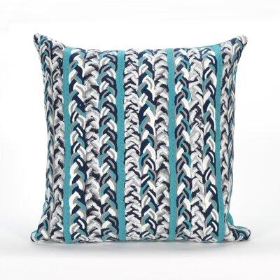 Coalton Braided Stripe Indoor/Outdoor Throw Pillow Color: Blue