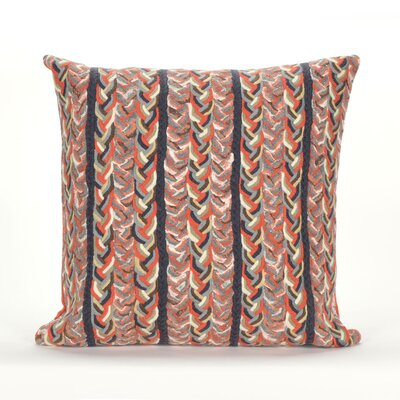 Coalton Braided Stripe Indoor/Outdoor Throw Pillow Color: Orange