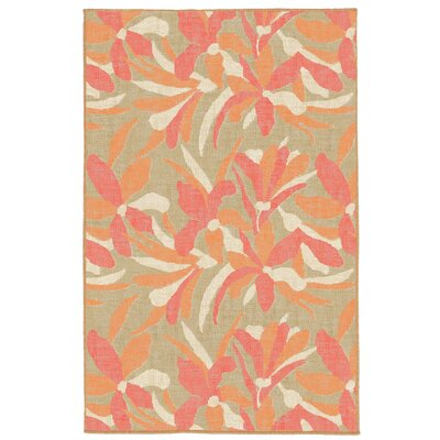Maile Flower Indoor/Outdoor Area Rug Rug Size: Round 710