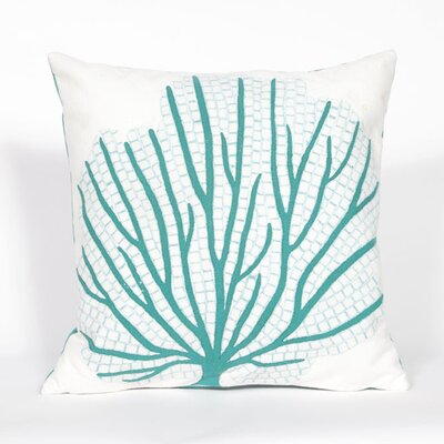 Coggeshall Coral Fan Throw Pillow Color: Aqua