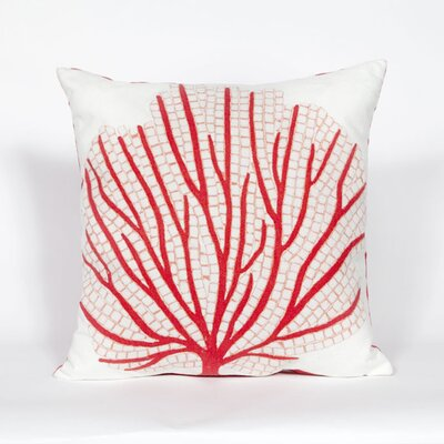 Coggeshall Coral Fan Throw Pillow Color: Coral