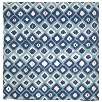 Visions II Aqua Ikat Diamonds Indoor/Outdoor Area Rug Rug Size: Square 8