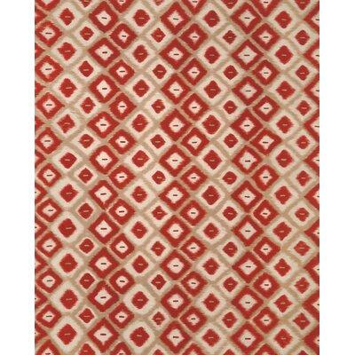 Cromwell Red Ikat Diamonds Indoor/Outdoor Area Rug Rug Size: 8 x 10
