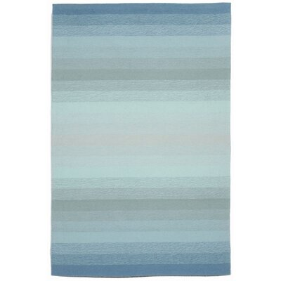 Clowers Ombre Aqua Indoor/Outdoor Area Rug Rug Size: 2 x 3