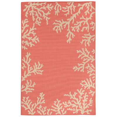 Roselawn Orange Indoor/Outdoor Area Rug Rug Size: 4'10