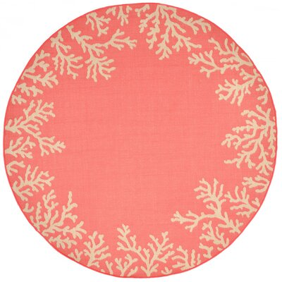 Claycomb Hand-Tufted Orange Indoor/Outdoor Area Rug Rug Size: Round 8'