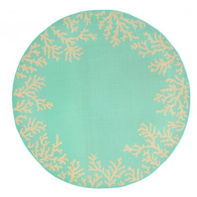 Roselawn Blue Indoor/Outdoor Area Rug Rug Size: Round 7'10
