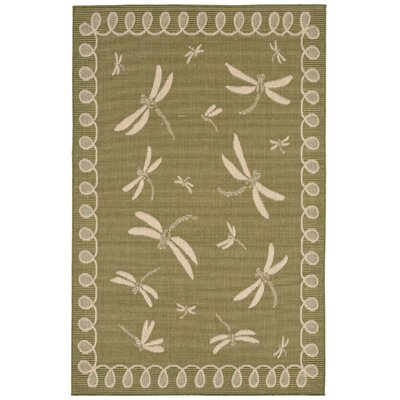 Roselawn Green Indoor/Outdoor Area Rug Rug Size: 710 x 910
