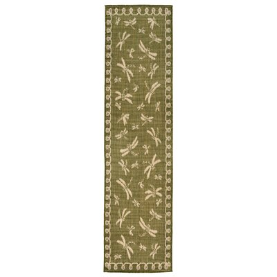 Clatterbuck Green Indoor/Outdoor Area Rug Rug Size: Runner 111 x 76