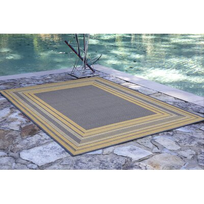 Roselawn Etched Blue Indoor/Outdoor Area Rug Rug Size: 111 x 211