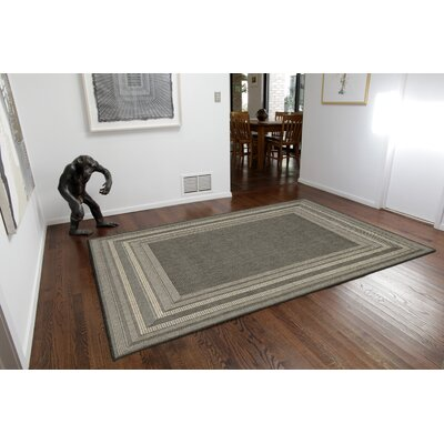 Clatterbuck Etched Gray/Beige Indoor/Outdoor Area Rug Rug Size: 111 x 211