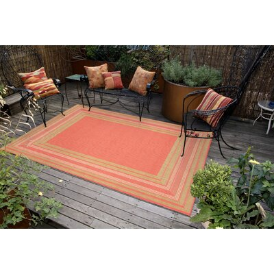 Roselawn Etched Pink Indoor/Outdoor Area Rug Rug Size: 111 x 211