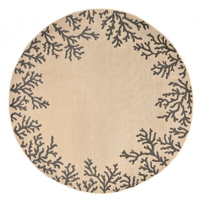 Roselawn khaki Indoor/Outdoor Area Rug Rug Size: Runner 111 x 76