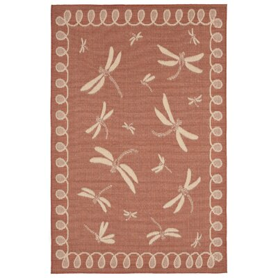 Clatterbuck Rust Indoor/Outdoor Area Rug Rug Size: 710 x 910
