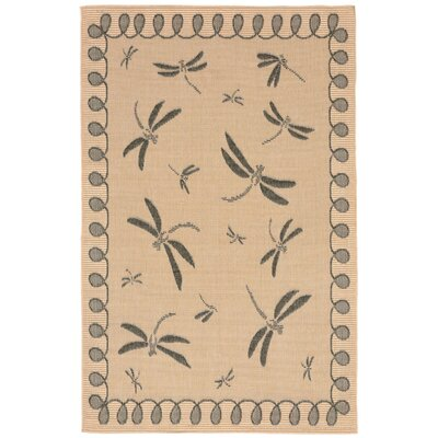 Clatterbuck Brown Indoor/Outdoor Area Rug Rug Size: 111 x 211