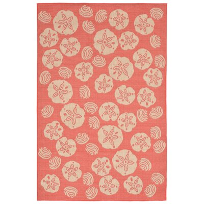 Clatterbuck Orange Shell Toss Indoor/Outdoor Area Rug Rug Size: 710 x 910