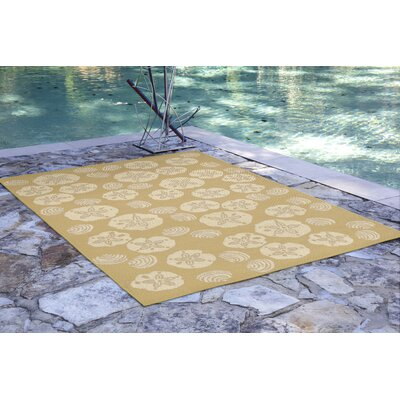 Roselawn Shell Toss Almond/Camel Indoor/Outdoor Area Rug Rug Size: 111 x 211