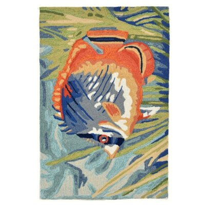Northwood Tropical Fish Blue Area Rug Rug Size: 2 x 3