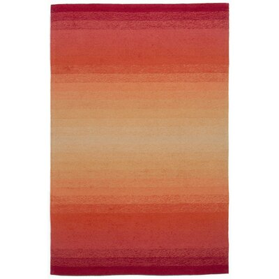 Northwood Ombre Orange Indoor/Outdoor Area Rug Rug Size: 36 x 56