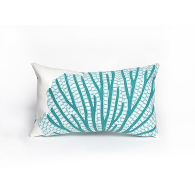 Georgia Coral Fan Lumbar Pillow Color: Aqua