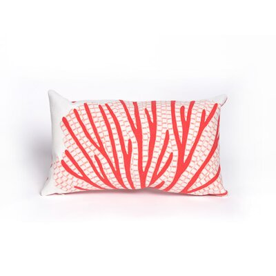 Coggeshall Coral Fan Lumbar Pillow Color: Coral