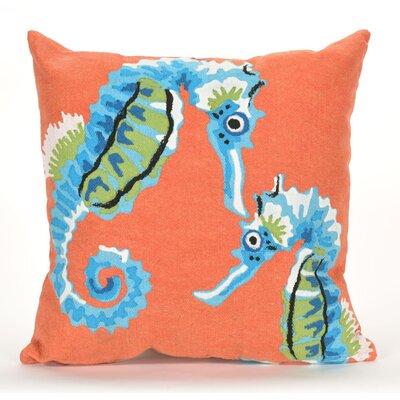 Coalton Seashorse Graphic Print Indoor/Outdoor Throw Pillow