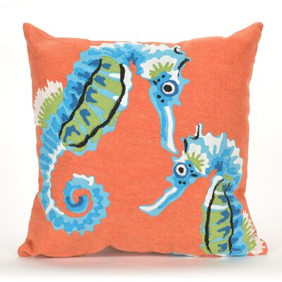 Eliza  Seashorse Indoor/Outdoor Throw Pillow