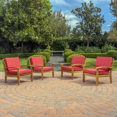 Rainier Armchair Upholstery: Red