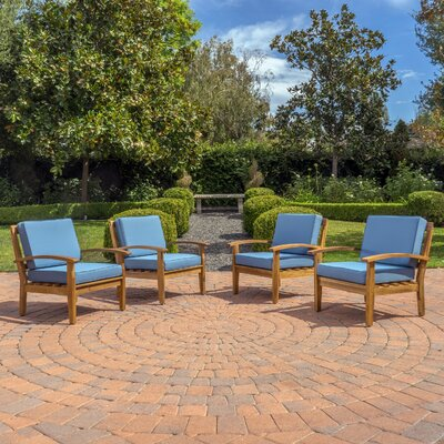 Ashton Arm Chair Color: Blue