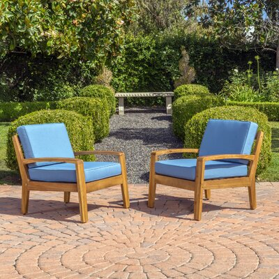 Woodstock Wooden Arm Chair Color: Blue