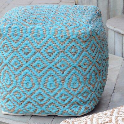 Sheldon Pouf Upholstery: Aqua