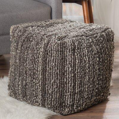 Dorine Pouf Ottoman Upholstery: Charcoal