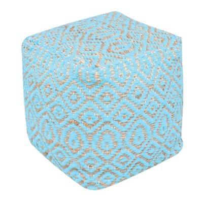 Faulkwoods Pouf Ottoman Upholstery: Aqua