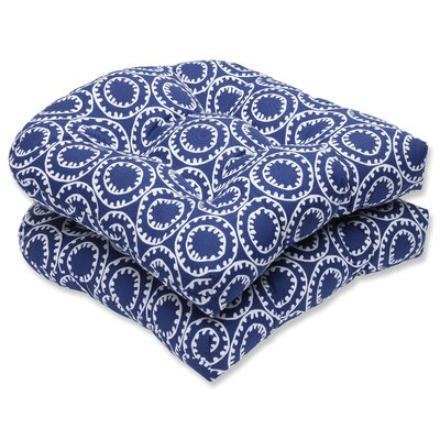 Averie Outdoor Dining Chair Cushions Fabric: Navy