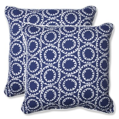 Averie Indoor/Outdoor Throw Pillow Fabric: Navy