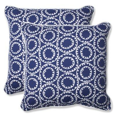 Springfield Indoor/Outdoor Throw Pillow Fabric: Navy