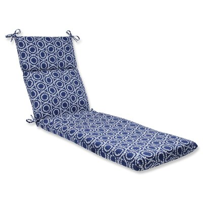 Averie Outdoor Chaise Lounge Cushion Fabric: Navy