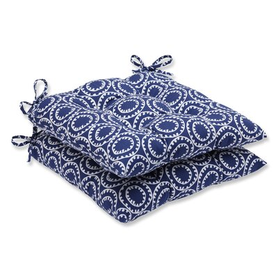 Averie Outdoor Dining Chair Cushion Fabric: Navy