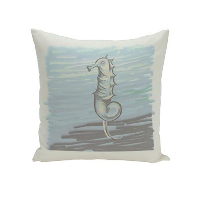 Miriam Seahorse  Decorative Outdoor Pillow Color: Grey, Size: 20 H x 20 W x 1 D