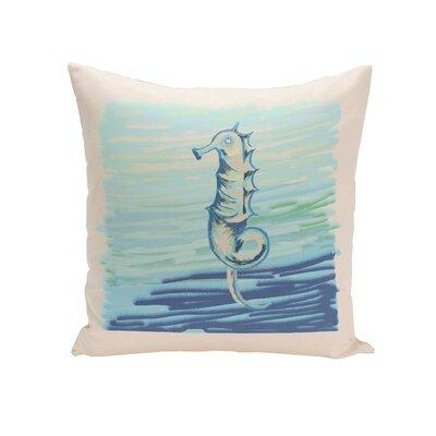 Miriam Seahorse  Decorative Outdoor Pillow Size: 18 H x 18 W x 1 D, Color: Neutral