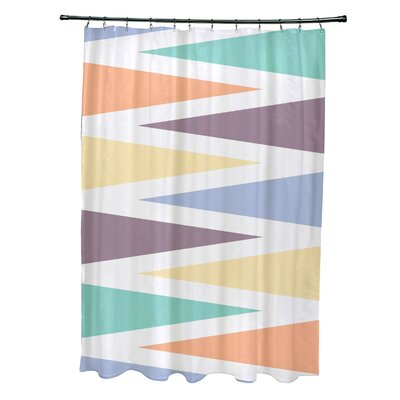 Boubacar Polyester Backgammon Geometric Shower Curtain Color: Lavender