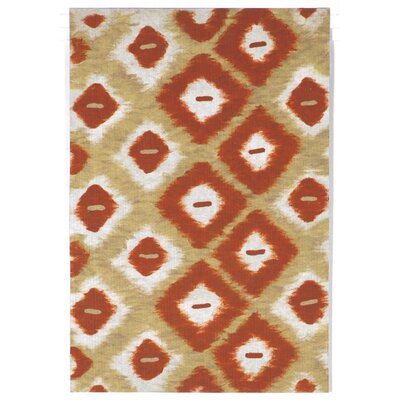 Cromwell Red Ikat Diamonds Indoor/Outdoor Area Rug Rug Size: 5 x 8