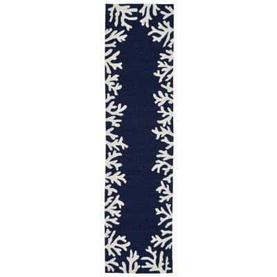 Tannis Hand-Tufted Navy Indoor/Outdoor Area Rug Rug Size: Runner 2 x 8