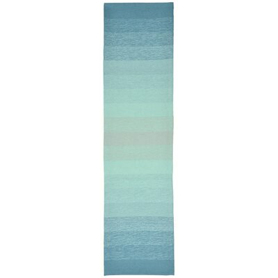Clowers Ombre Aqua Indoor/Outdoor Area Rug Rug Size: Runner 2 x 8