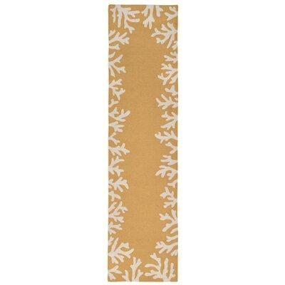 Tannis Coral Border Yellow Indoor/Outdoor Area Rug Rug Size: Runner 2 x 8