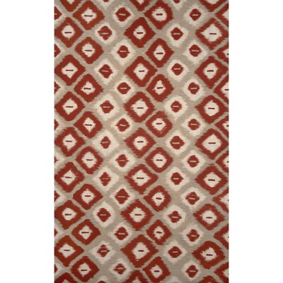 Francoise Red Ikat Diamonds Indoor/Outdoor Area Rug Rug Size: Rectangle 5 x 8