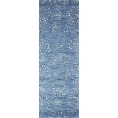 Villanova Hand-Tufted Denim Area Rug Rug Size: Runner 26 x 8