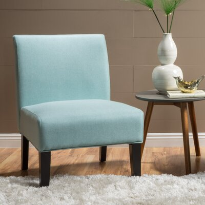 Veranda Slipper Side Chair Upholstery: Light Blue