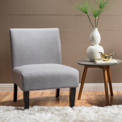 Webster Slipper Side Chair Upholstery: Light Gray