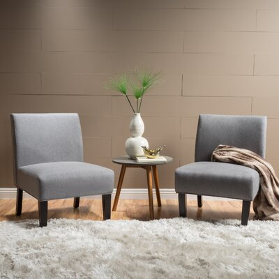 Veranda Slipper Side Chair Upholstery: Gray